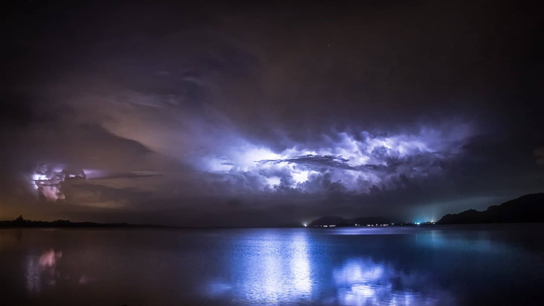 Storm being reflected on the Lagoon! Torres, Rio Grande do Sul, Brazil | Yesterday night May 18, 2018!