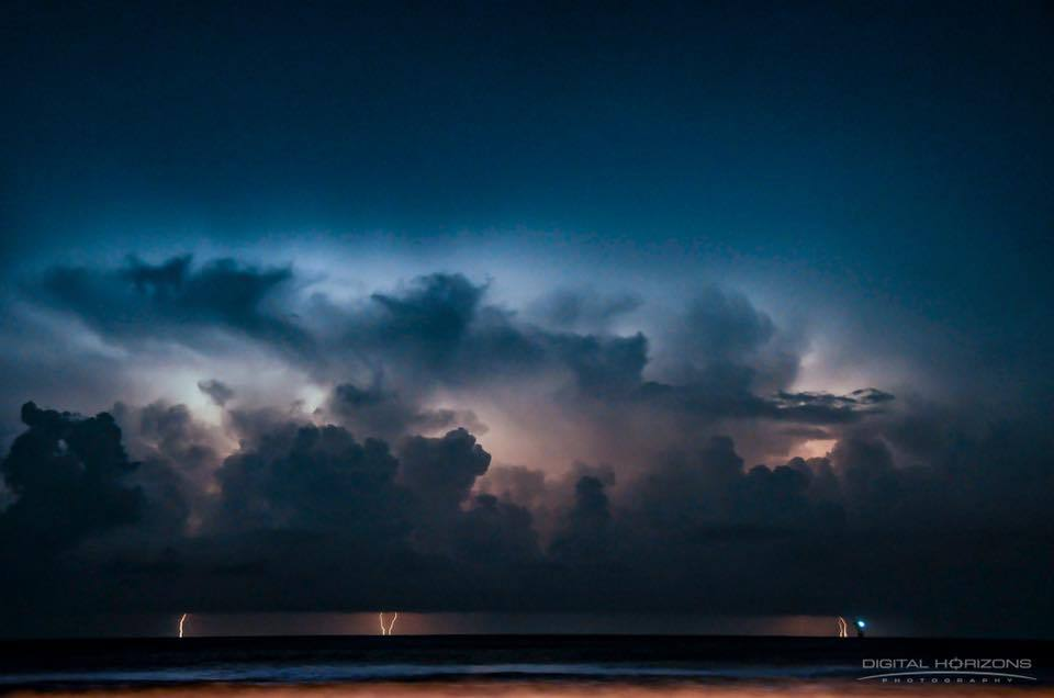 A thunderstorm of the coast here in Corpus Christi. Hoping to see more of those this spring and summer.