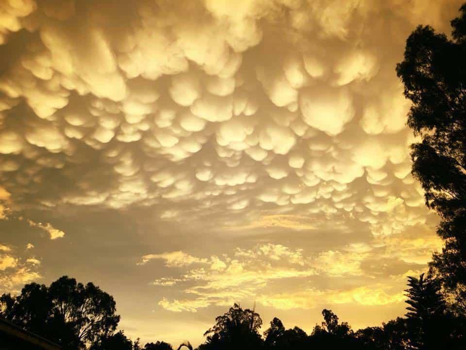 """Jimboomba sunset"" Mammatus clouds after storms a month ago! Jimboomba Queensland Australia"