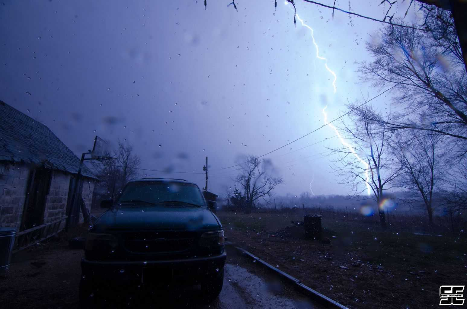 Incredible close range CG last night near Stover, MO! First lightning shot of the year!