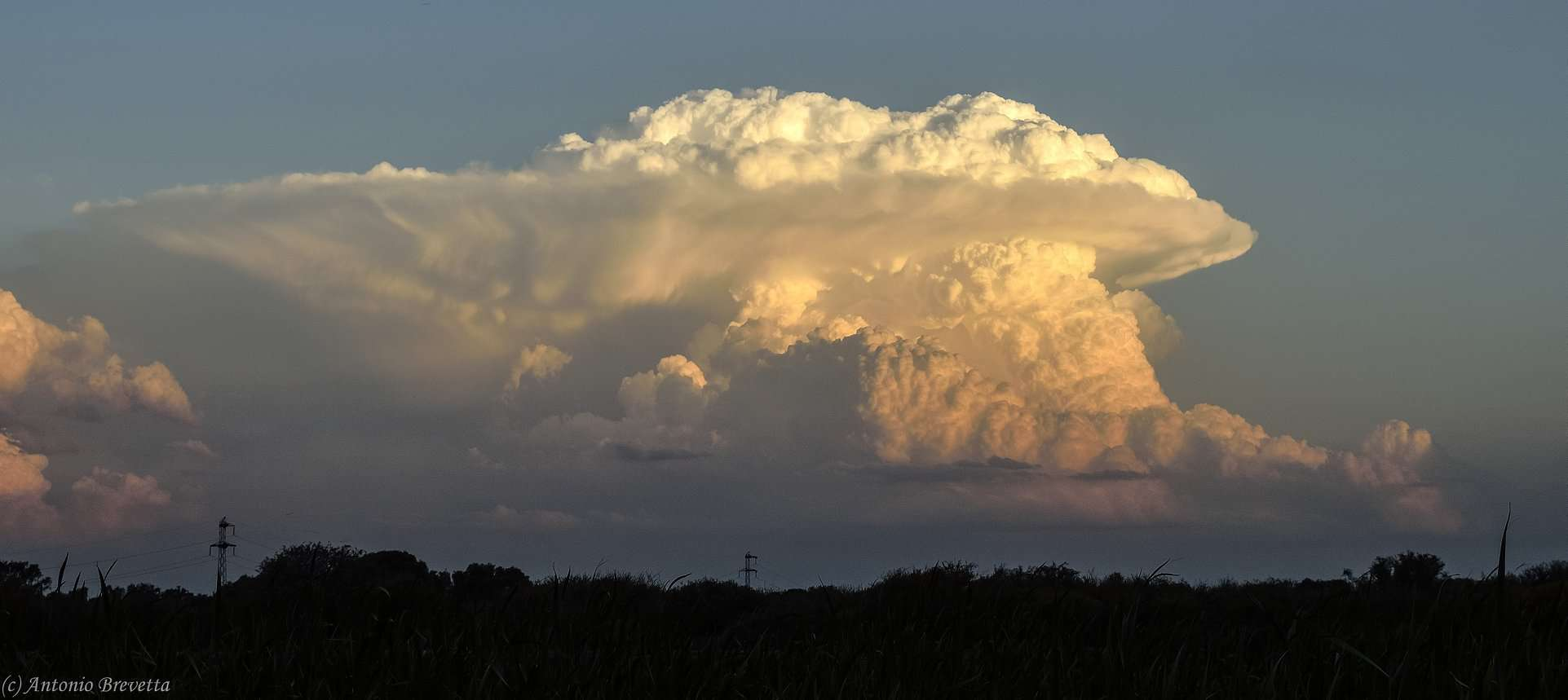 Power and beauty... A thunderstorm at sunset... Santiago del Estero, Argentina...