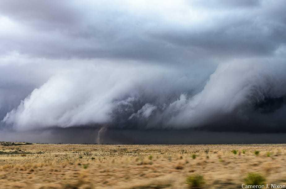 Helical updraft contortion and landspout tornado near Loop, TX - 3/27/18