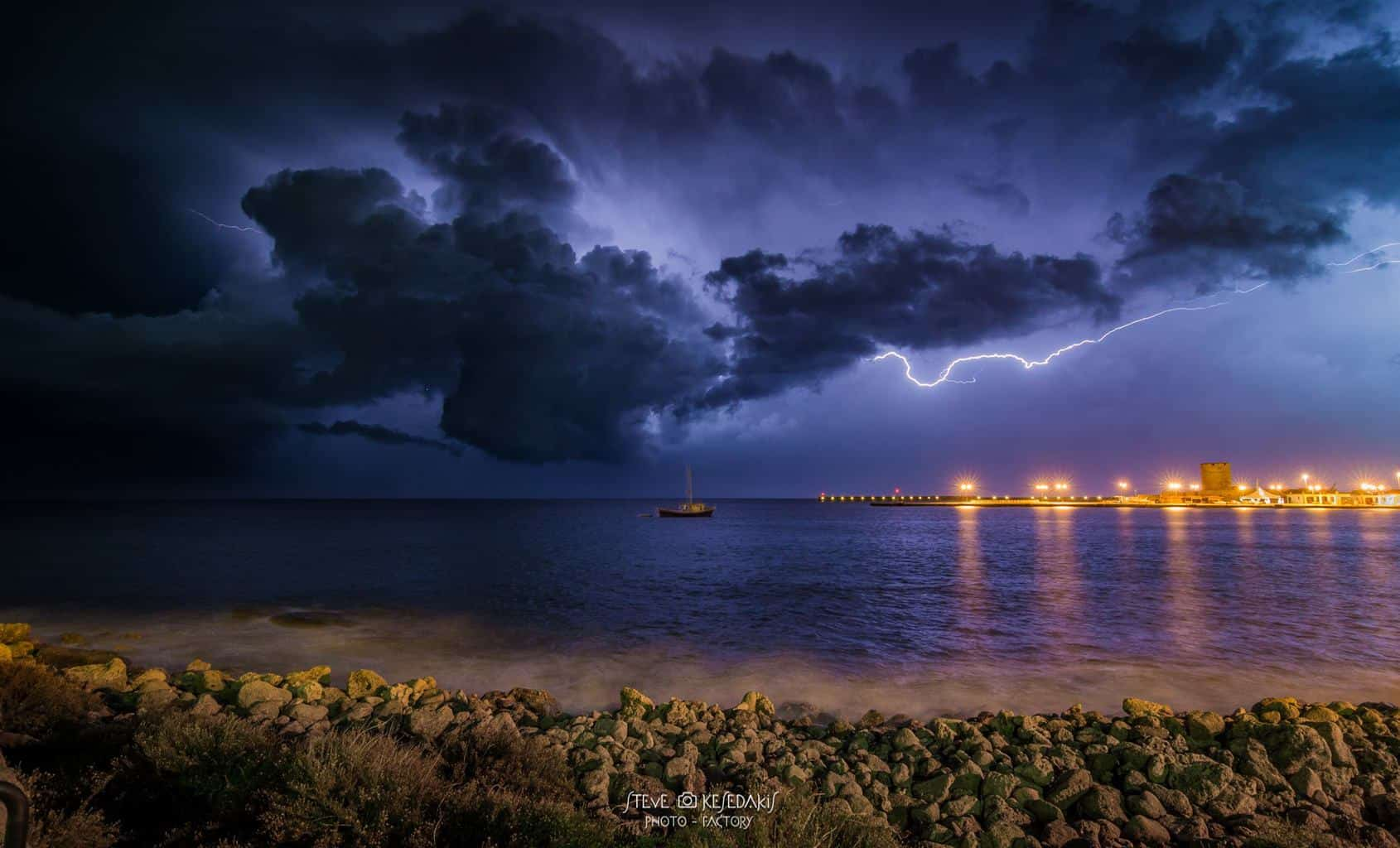 seascape storms have some magic.... Rhodes island Greece ....