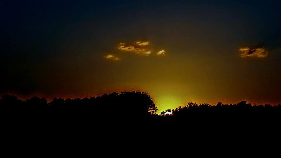 Sunset taken this evening in Ocklawaha,FL