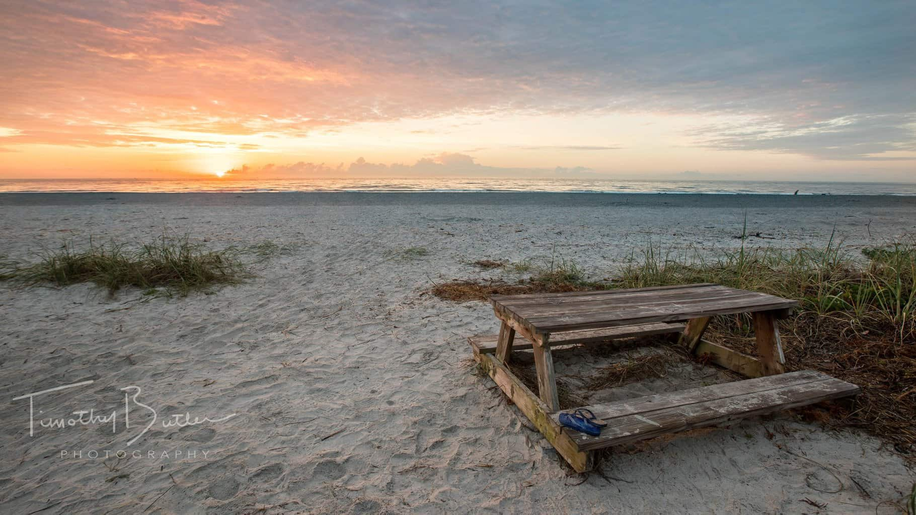 Sunrise over the beach at Cape Canaveral, Florida.