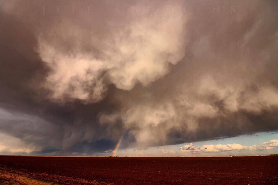 Idalou,Tx the structure was great and the rainbow was a bonus!