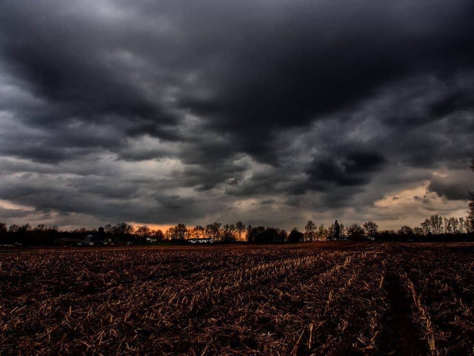 Across the Farm Ominous skies in Jackson, Michigan.