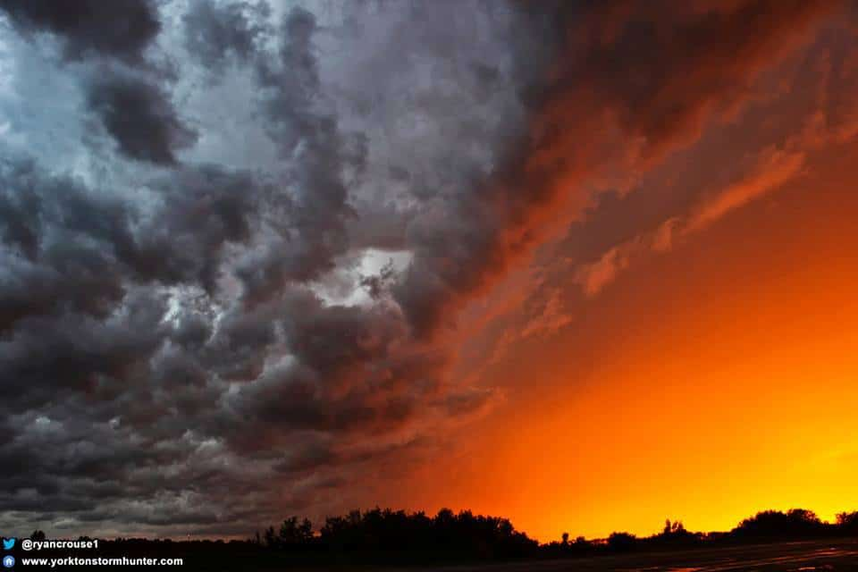 July 3, 2012 - Yorkton SK Canada To date, THIS is still the nicest Stormy Sunset scene I've ever seen! After this, came all the lightning and then the sky turned bright blue!
