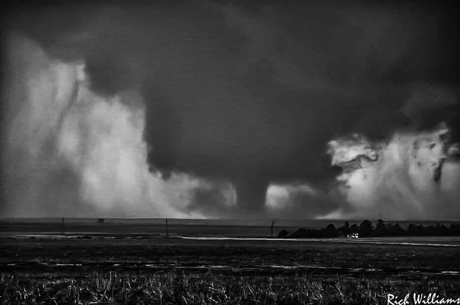 One of the Dodge City, Kansas Tornadoes In B&W!