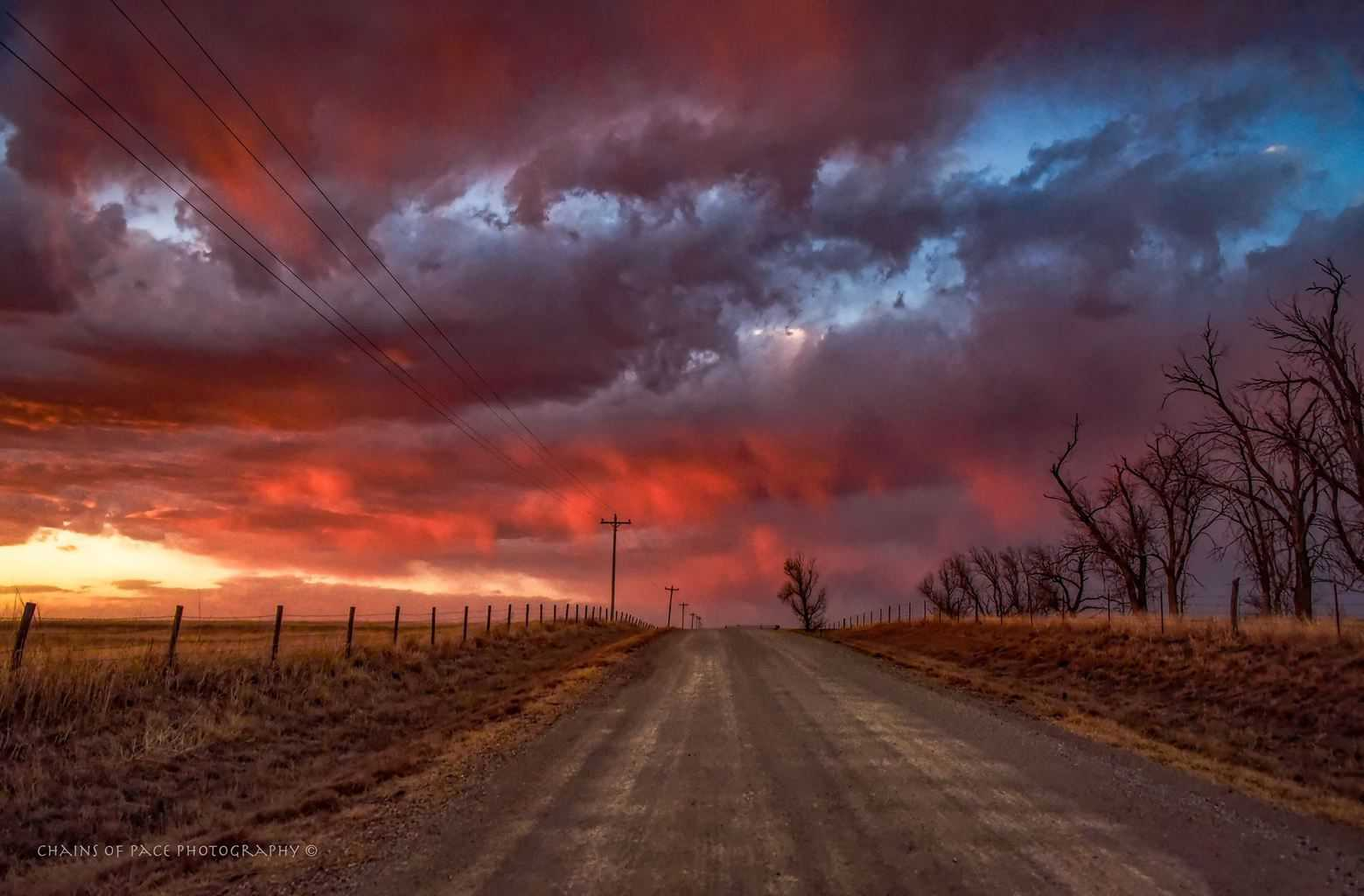 Colors of the sunset in Oklahoma March 23, 2018