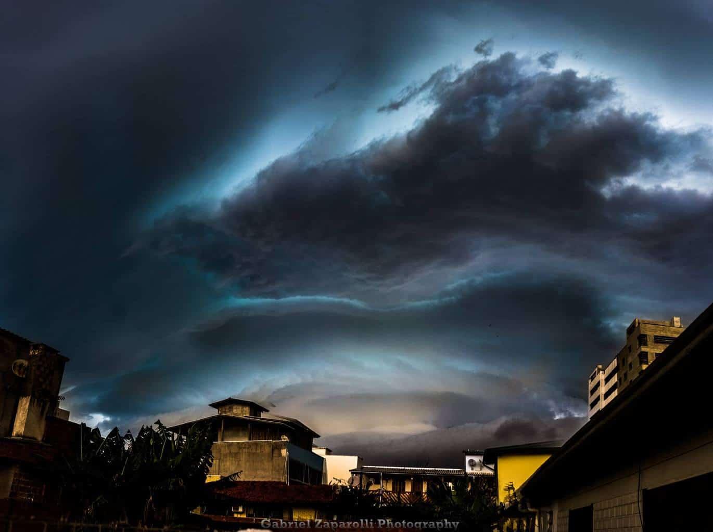 Severe storm near Torres, Rio Grande do Sul, Brazil. November 9, 2017.