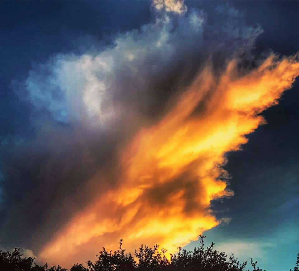 Storm fizzling out Leander,Tx