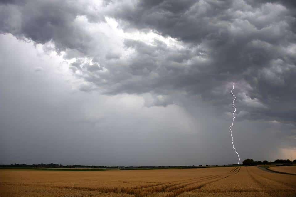 Lightning strike! Koningsbosch, Netherlands 19th july 2017