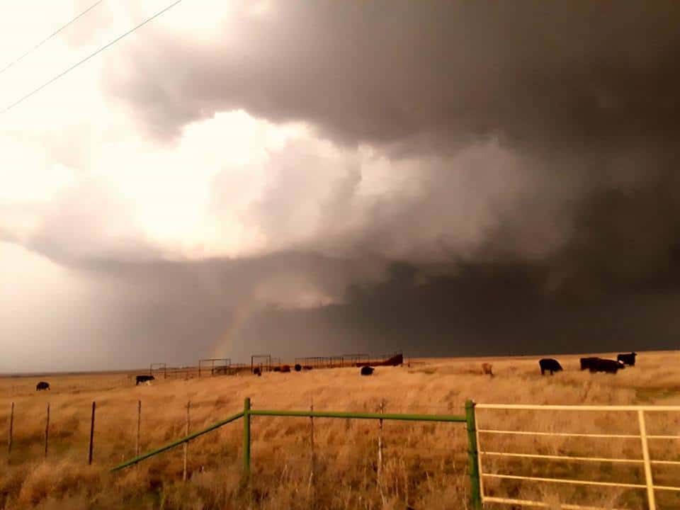 Yesterdays Supercell in NW Texas.