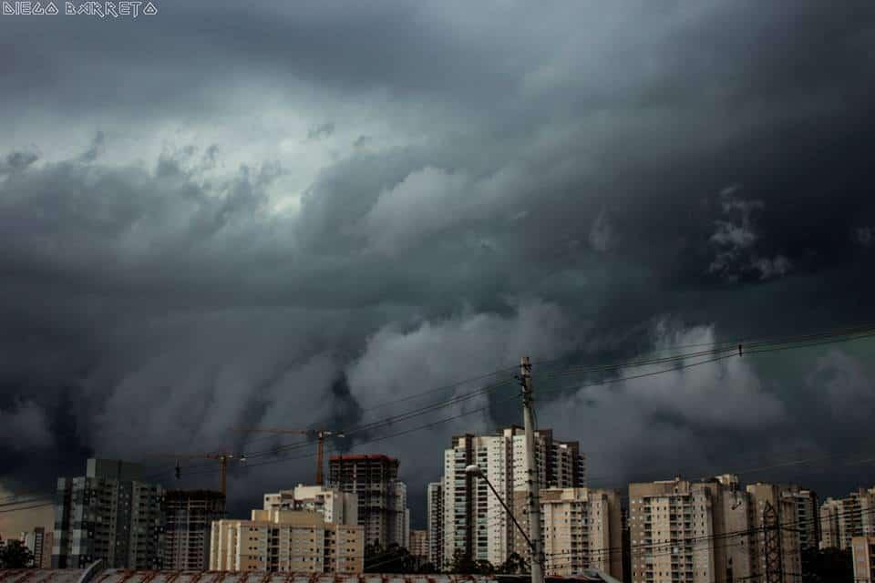 CB (Cumulonimbus). Thunderstorm over Sao Paulo this afternoon.