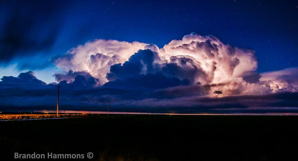 Starry Stormy Night. Near Grinnell, KS (5/9/15)