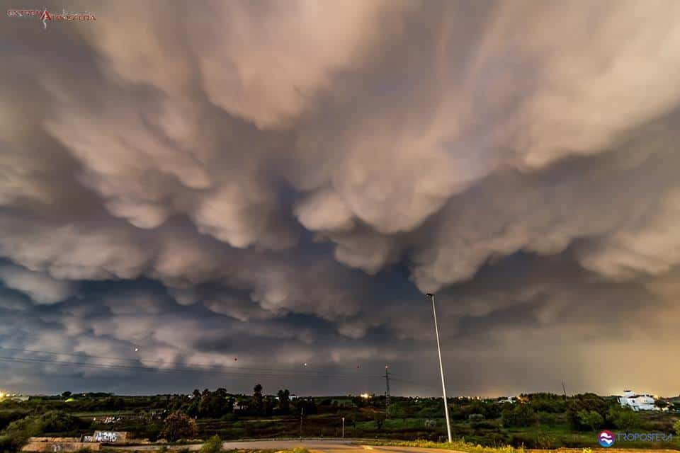 Some crazy and rare Mammatus clouds here in South Portugal, this past day 10 of March.;)
