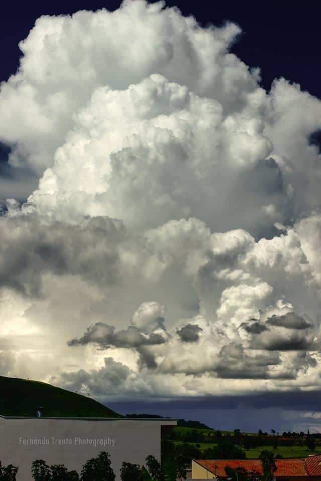 March 16, 2018. Huge cumulonimbus cloud over the city. Santo Antônio da Paraná, Brazil.
