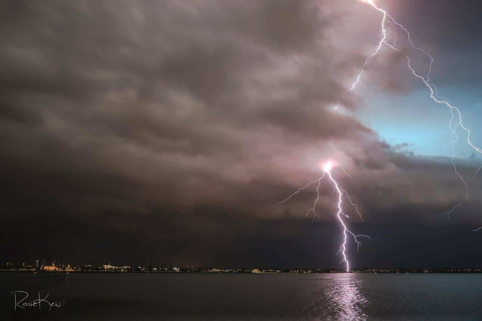 Our storm season seems to have finally ended. Severe warned storm crossing Moreton Bay Brisbane QLD about 6 weeks ago