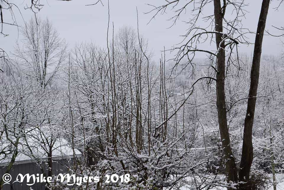 April 2,2018 Monday morning got snow less 2 or 3 in of snow. I don't want no more snow Noble county,Ohio snow was gone melt Monday afternoon.