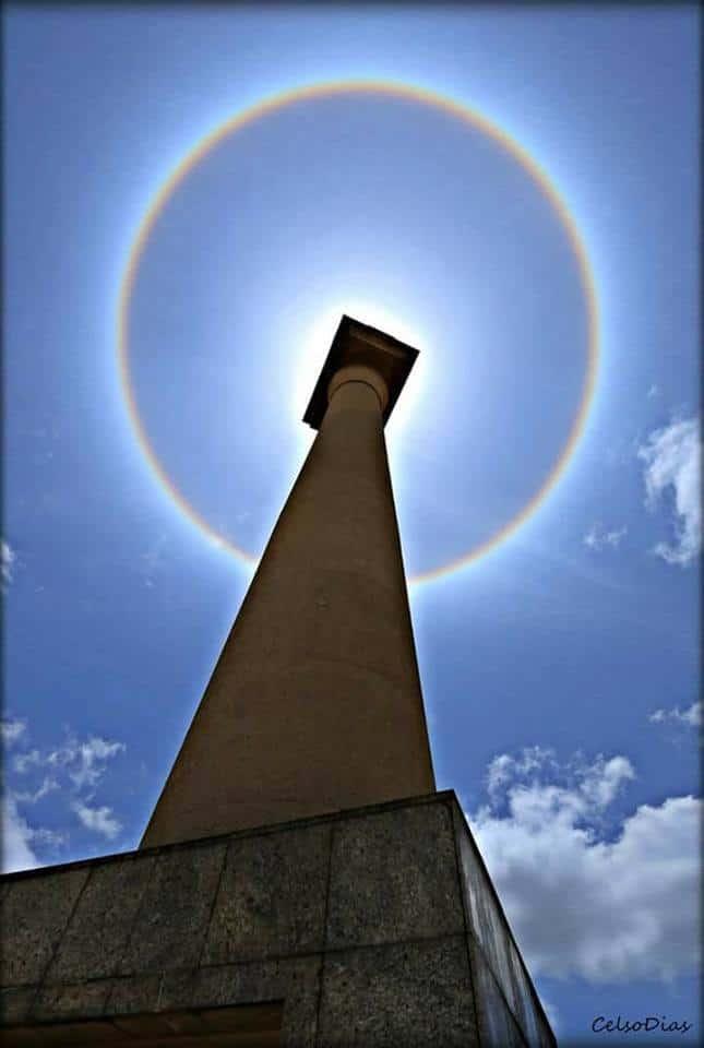 O Halo Solar mais bonito que fotografei até hoje na minha amada Cascavel/PR/BR!