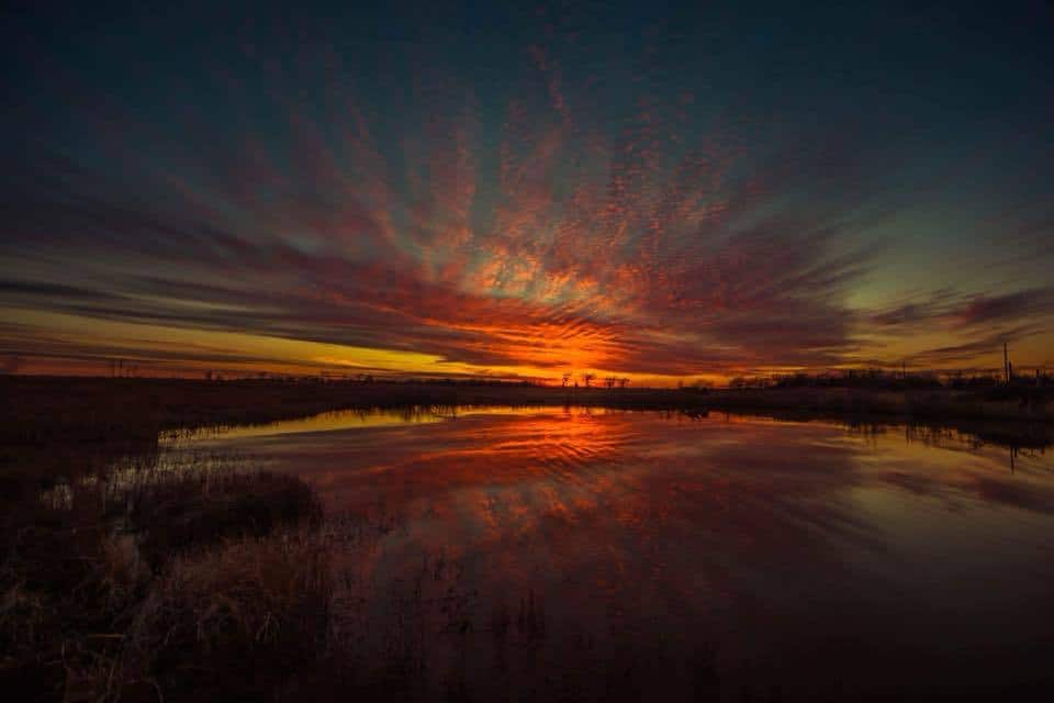 Sunset in Kansas a few weeks ago.