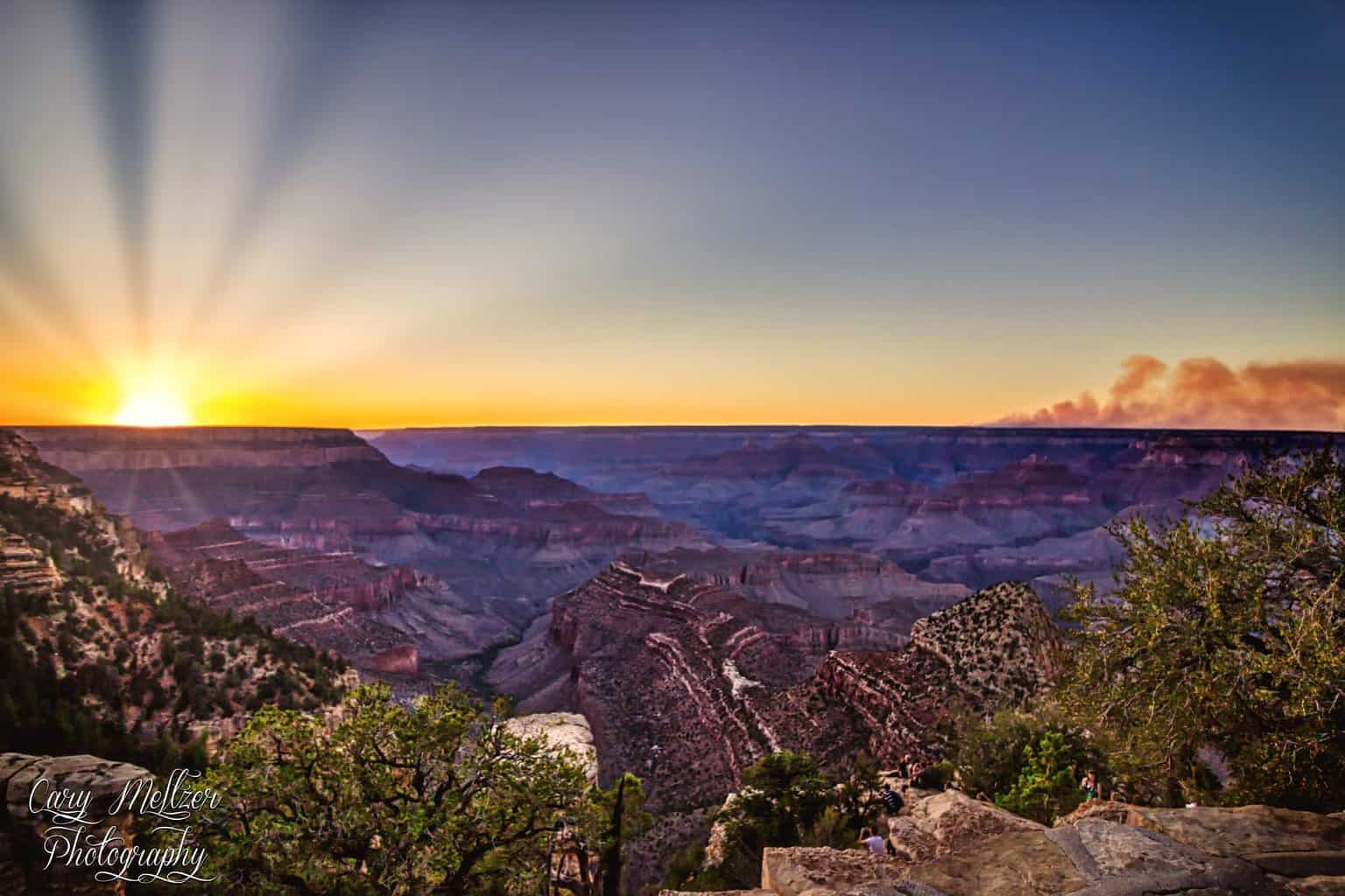 I shot this last year at the Grand Canyon. There was a large wild fire on the north rim that can be seen in the shot. Such a gorgeous sight to behold. — at South Rim of the Grand Canyon, AZ.