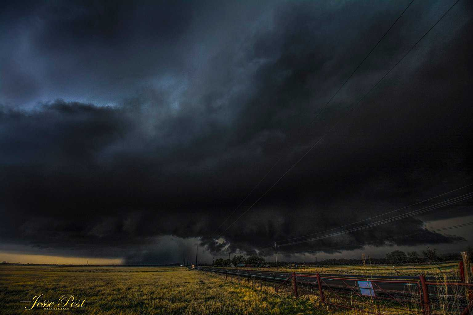 """""""Into the Storm""""....anyone? This is a 10mm wide shot. Nocona, TX at almost dark last Sunday"""