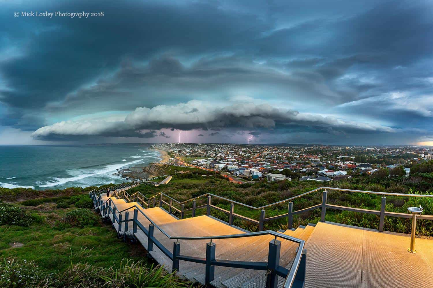 """Newcastle, NSW Australia. Storm season is """"officially"""" over here in Australia, but as we know, Mother Nature will often offer up a few surprises, and this beauty that rolled through last Thursday was just stunning"""