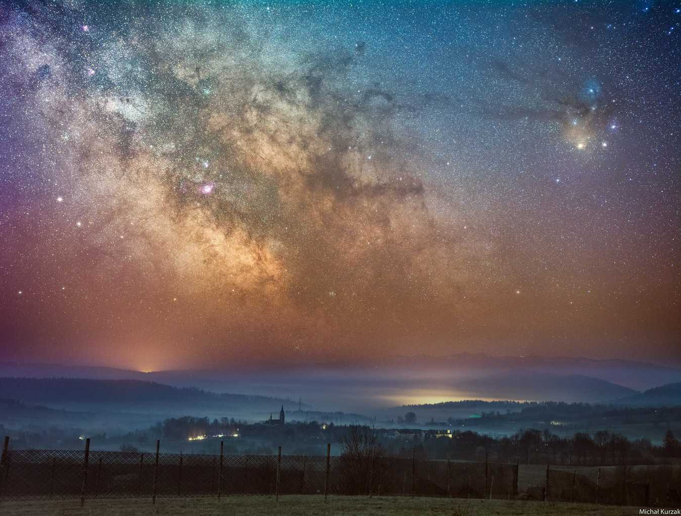 April milky way rising over Lutowiska with the prominent Rho Opchiuhi region:)Picture was taken few days ago in dark sky park in Bieszczady (Poland)