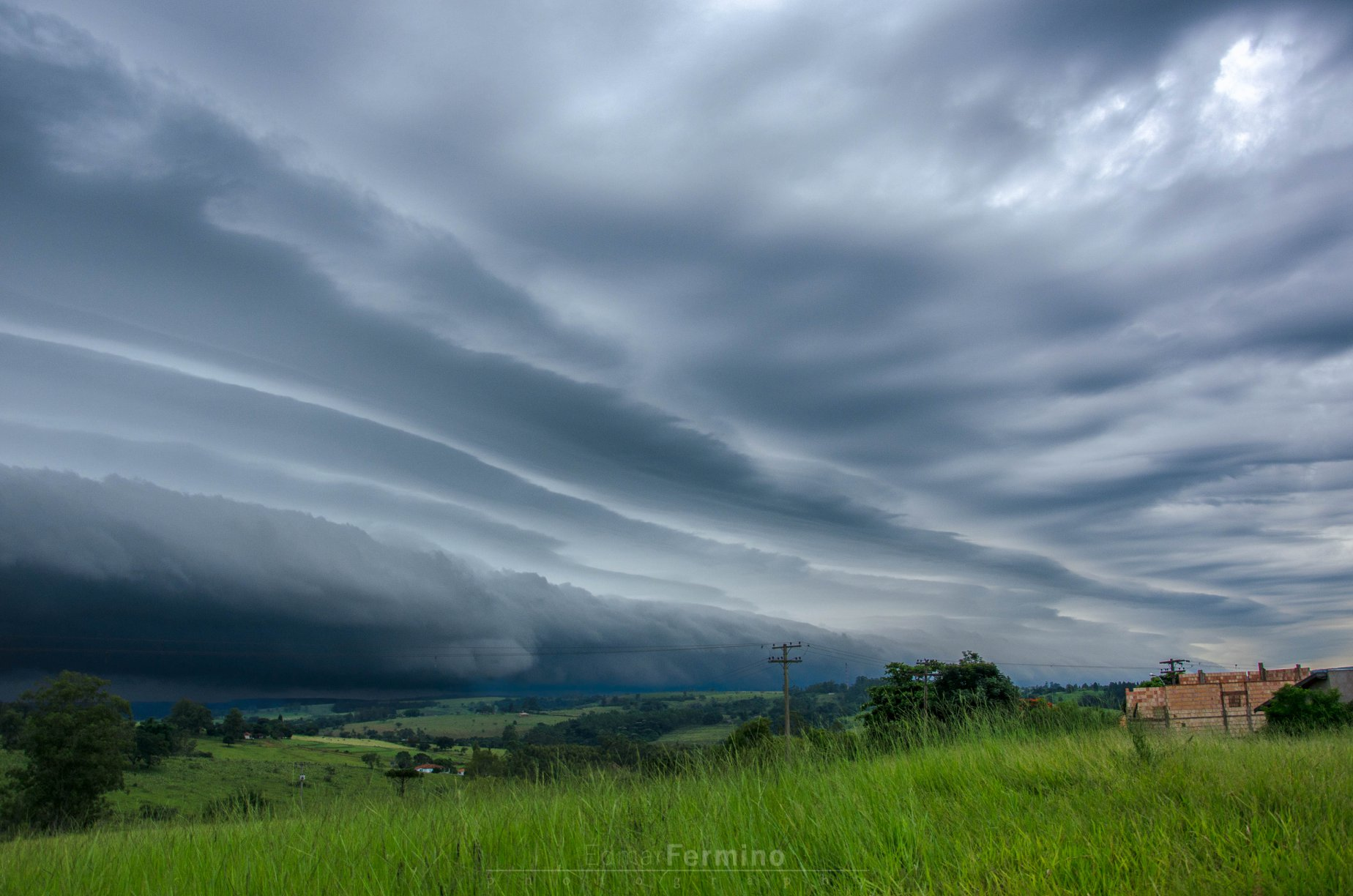 Storm. 18/02/2018 Duartina SP, Brazil.