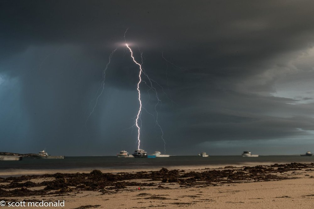did it hit the boat????? After an awesome night shooting lightning thor put on one hell of a finale show by delivering me bolt after bolt right on sunrise and boy some of them were close  taken from lancelin western australia