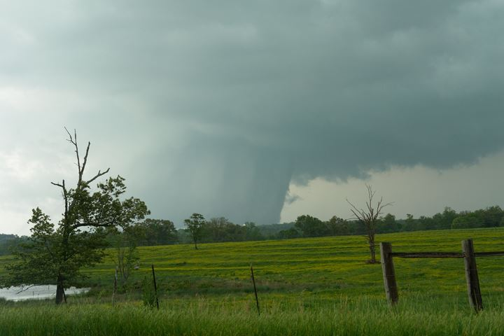It was 7 years ago, on 27 April 2011, when monster violent tornadoes ripped across the Deep South. Here's a view of the killer Cullman AL EF4 at maximum size and intensity, after passing Hulaco AL. In a note of great irony, the foreground is a pasture filled with buttercups in bloom.