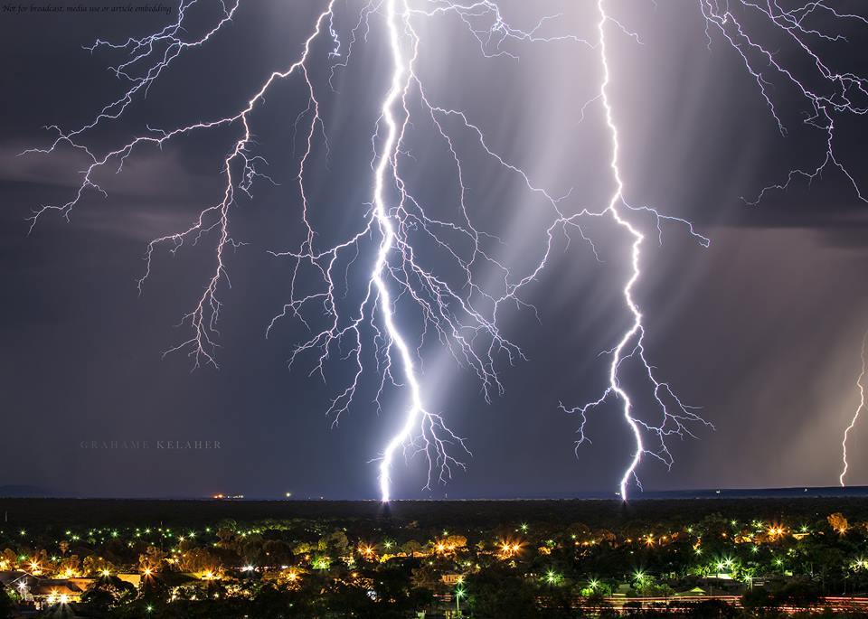 Close bolt over Kalgoorlie in Western Australia.