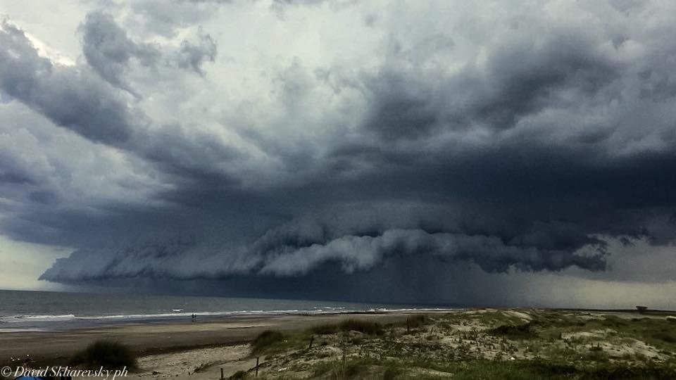 Big storm over the beach the last summer..Santa Clara del Mar,Argentina