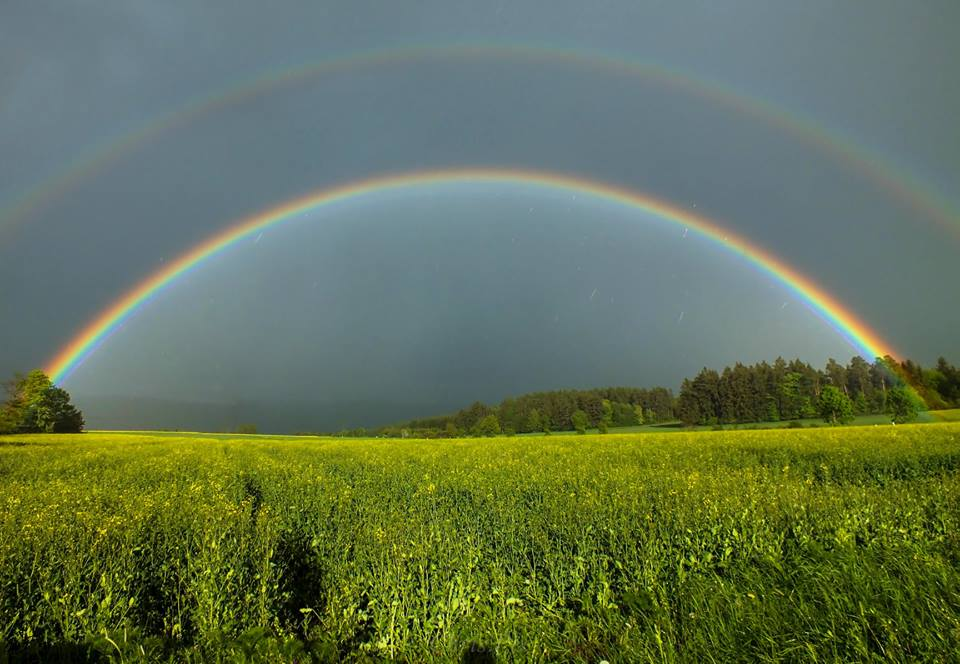 Intense double rainbow! Seek shelter now!!! No, just kidding.:P