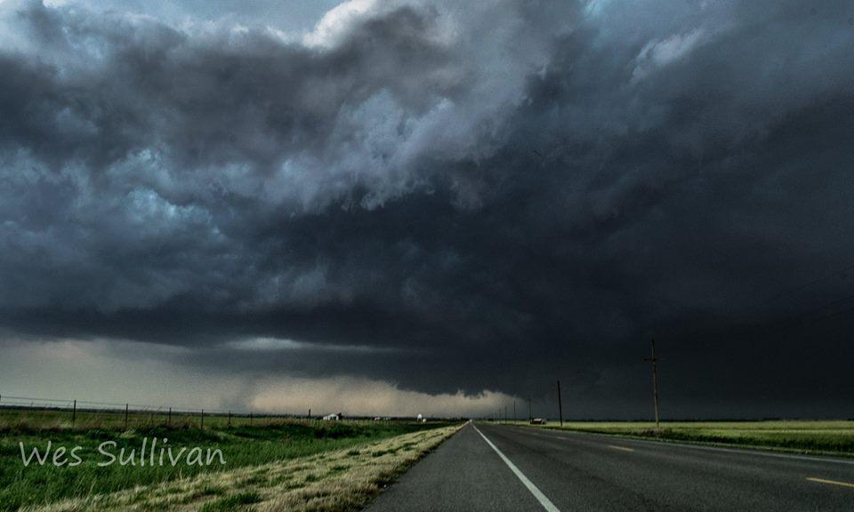 Tornado Warned storm near Davidson Oklahoma 5/2/18