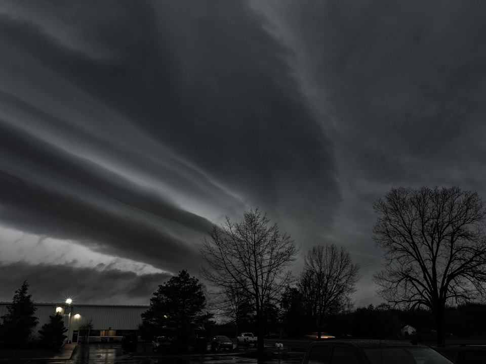Morning Shelf Cloud Image captured in Vandercook Lake, Michigan 5/3/2018