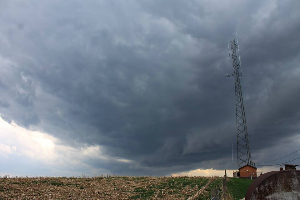 May 4, 2018. Severe storm intercept in North Washington, Butler County, PA.