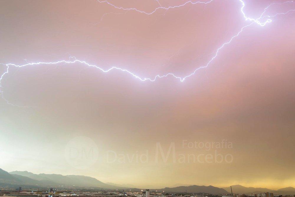 Dust Storm, Málaga (Spain) on 23 April 2018