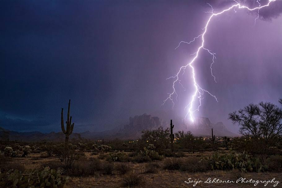 Monsoon season in Arizona....