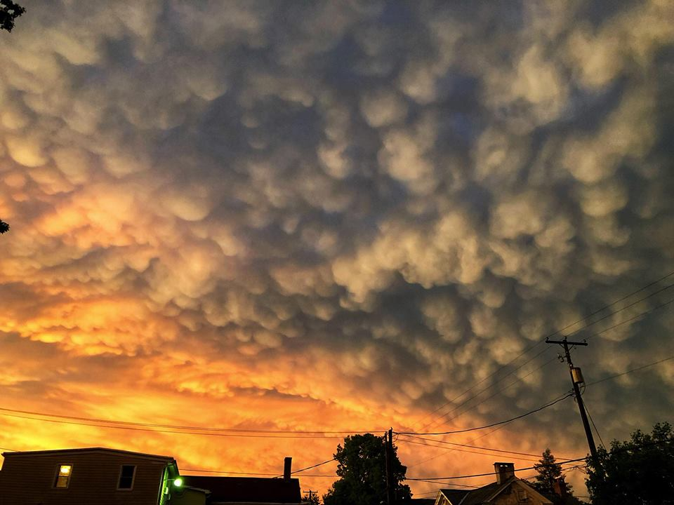 Some cool sunset mammatus from yesterday.