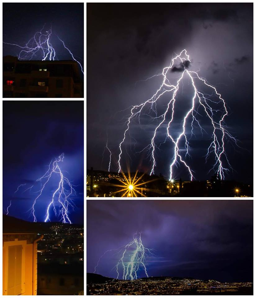 Powerfull lightning seen from different angles. Last night 15/05/18 at Nice French 🇫🇷