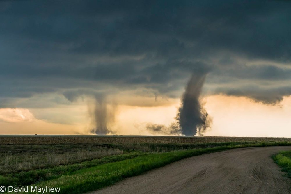 This afternoon south of Cope CO. A cyclical storm that produced at least 5 tornadoes.