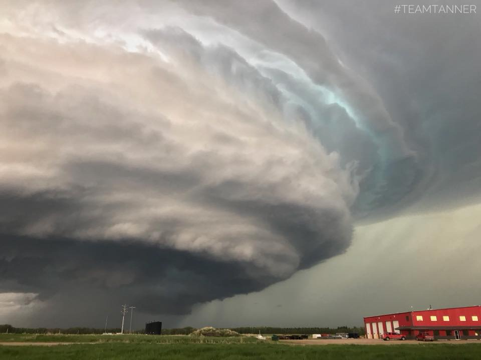 Mothership near cold Lake, Alberta Canada June 9/18. We haven't seen one with structure like this in that area for years. For more photos check out our page  https://www.facebook.com/treeanddar?ref=hl