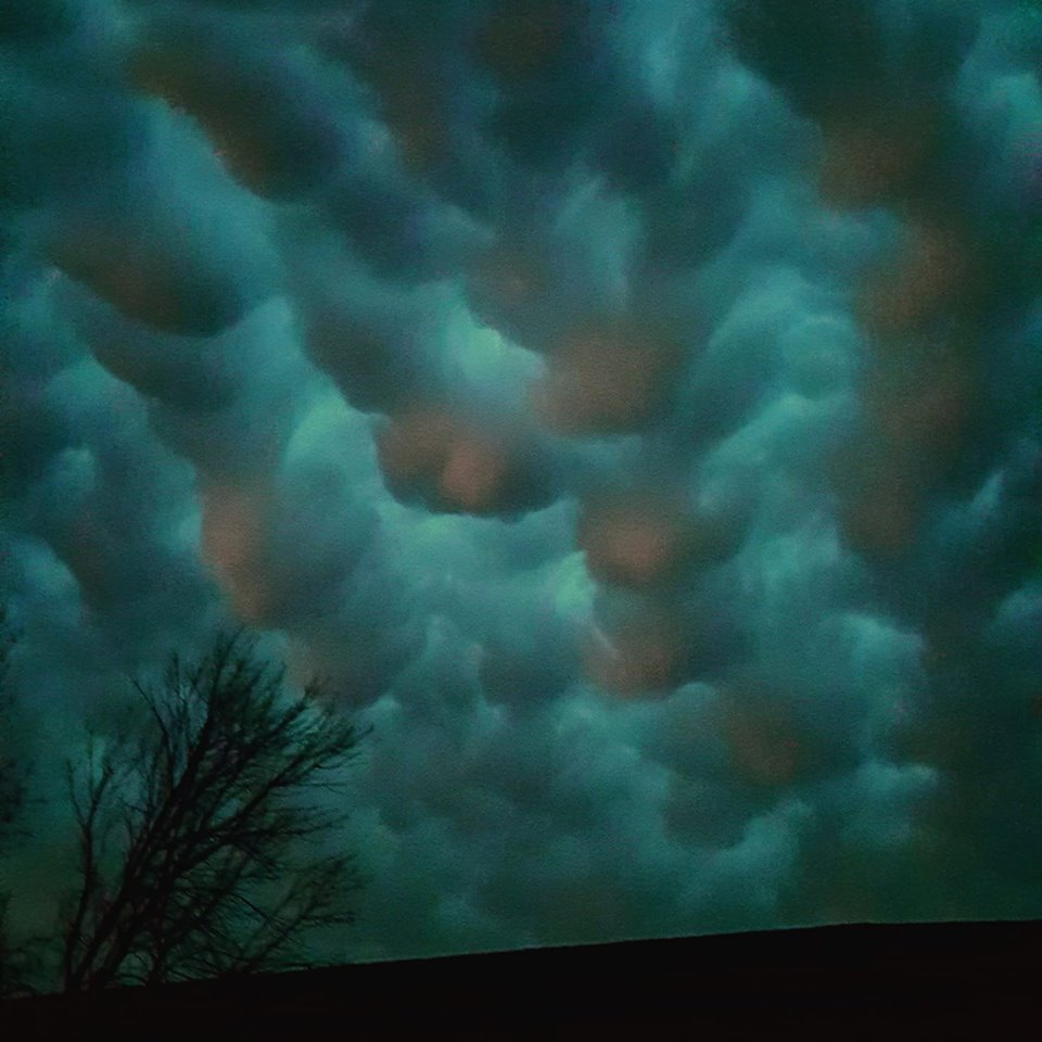 Mammatus Clouds over my house. Platte City, Mo. 6/11/18