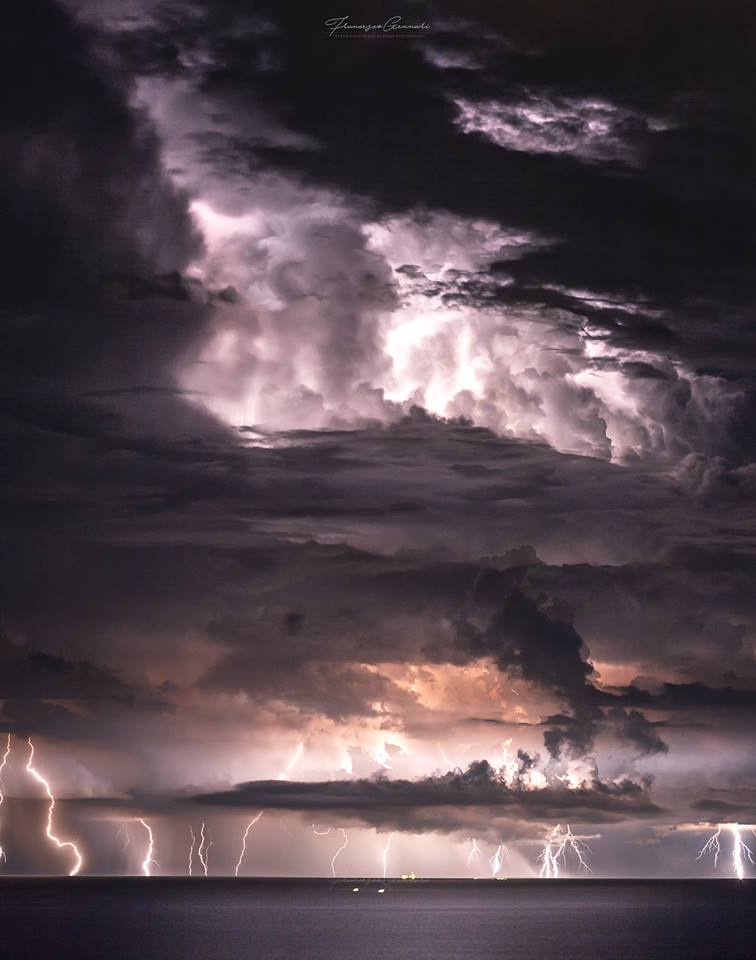 Powerful thunderstorm over the Adriatic Sea (Italy) last night 14 June. Beautiful night chase with friends. Francesco Gennari: Storm Chasing and Weather Photography
