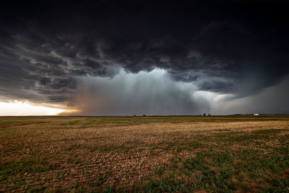 Core dump! I think there might just be a little hail in there. May 29, near Freedom, Oklahoma.— in  Freedom, Oklahoma .