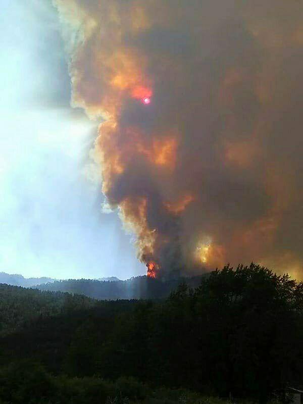 416 Fire near Durango, Colorado.
