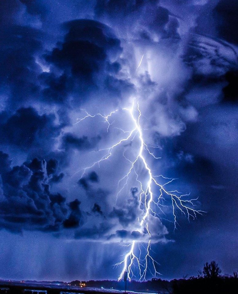 Monday night lightning.— in  Longboat Key, Florida .